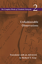 Unfashionable observations