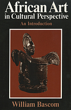 African art in cultural perspective; an introduction,