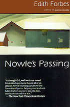 Nowle's passing : a novel