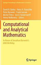 Computational and analytical mathematics : in honor of Jonathan Borwein's 60th Birthday
