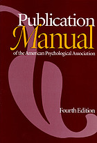 Publication manual of the american Psychological Association.