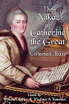 Nakaz of Catherine the Great : collected texts