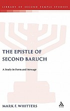 The Epistle of Second Baruch : a study in form and message