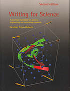 Writing for science : a practical handbook for science, engineering and technology students
