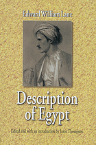 Description of Egypt : notes and views in Egypt and Nubia, made during the years 1825, -26, -27, and -28...