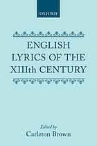 English lyrics of the XIIIth century,