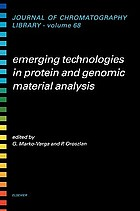 Emerging technologies in protein and genomic material anaylsis