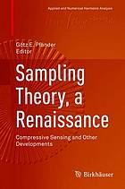 Sampling theory, a renaissance : compressive sensing and other developments