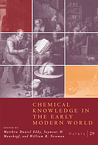Chemical knowledge in the early modern world