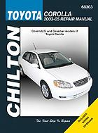 Chilton's Toyota Corolla 2003-05 repair manual