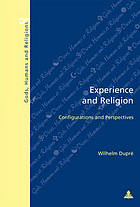 Experience and religion : configurations and perspectives