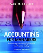 Accounting for managers : interpreting accounting information for decision-making