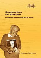 Corroborations and criticisms : forays with the philosophy of Karl Popper