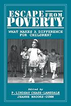Escape from poverty : what makes a difference for children?