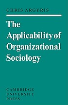 The applicability of organizational sociology