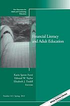 Financial literacy and adult education
