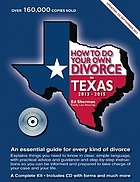 How to do your own divorce in Texas, 2013-2015