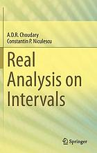 Real analysis on intervals