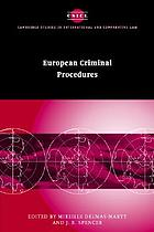 European criminal procedures