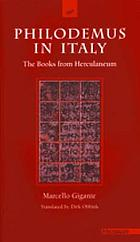 Philodemus in Italy : the books from Herculaneum