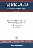 Inverses of disjointness preserving operators