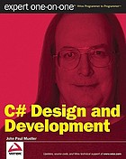 C♯ design and development : expert one-on-one