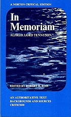 In memoriam; an authoritative text, backgrounds and sources, criticism.
