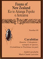 Carabidae (Insecta:Coleoptera) : synopsis of species, Cicindelinae to Trechinae (in part)