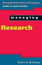 Managing research