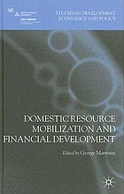 Domestic resource mobilization and financial development
