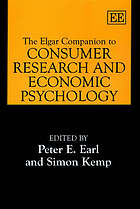 The Elgar companion to consumer research and economic psychology