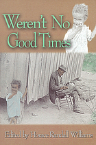 Weren't no good times : personal accounts of slavery in Alabama