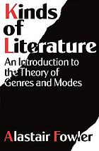 Kinds of literature : an introduction to the theory of genres and modes