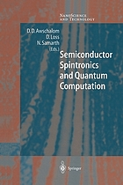 Semiconductor Spintronics and Quantum Computation