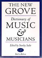 The new Grove dictionary of music and musicians / 18 Spiridion - Tin whistle.