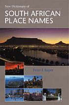 New dictionary of South African place names
