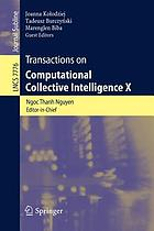 Transactions on computational collective intelligence X
