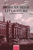 Modern Irish literature : sources and founders