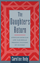 The daughter's return : African-American and Caribbean women's fictions of history