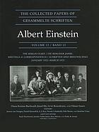 The collected papers of Albert Einstein. Volume 13, The Berlin years : writings & correspondence, January 1922-March 1923