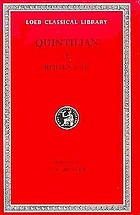 The institutio oratoria of Quintilian