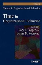 Time in organizational behaviour