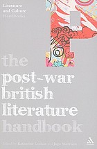 The post-war British literature handbook