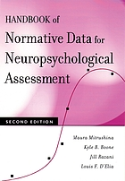 Handbook of normative data for neuropsychological assessment