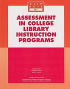 Assessment in college library instruction programs