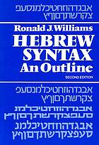 Hebrew syntax : an outline