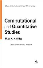 Computational and Quantitative Studies, 6 : the Collected Works of M.A.K. Halliday.