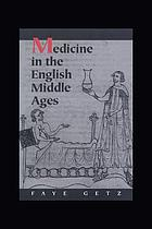 Medicine in the English Middle Ages
