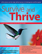 Survive and thrive : a life science unit for high-ability learners in kindergarten and first grade