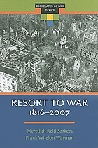 Resort to war : a data guide to inter-state, extra-state, intra-state, and non-state wars, 1816-2007